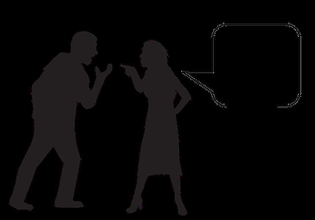 Hádka, muž a žena