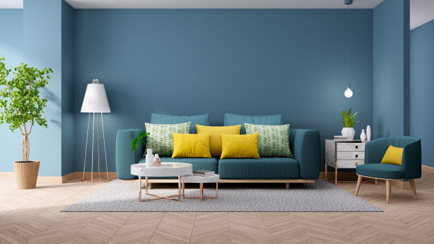 modern-vintage-interior-living-room-blueprint-home-decor-concept-green-couch-with-marble-table-blue-wall-hardwood-flooring-3d-render_33739-489